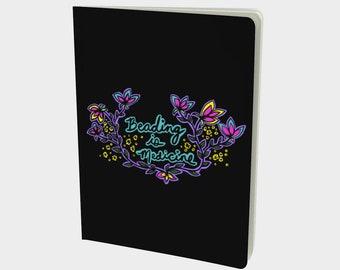 Beading is Medicine notebook - Original art journal - agenda - stationary - planner - book - hardcover - journal - pocketbook
