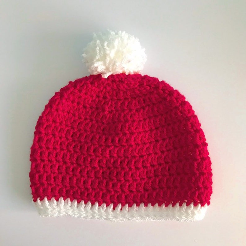 5c045ce5ca9 Red Santa crochet bobble hat