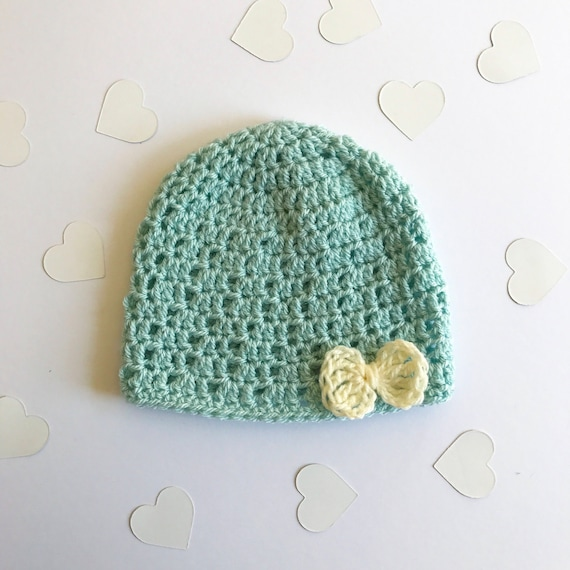 92e5ec7f7e8 Classic beanie hat with bow made to order Baby Child   Adult