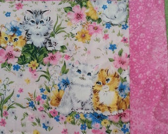 Pink Kitties Baby Kids Quilt