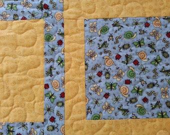 Handmade Bugs Baby Kids Quilt