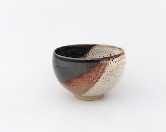 Petit bol, Bol à thé, Bolée de cidre, décor diagonale, grès