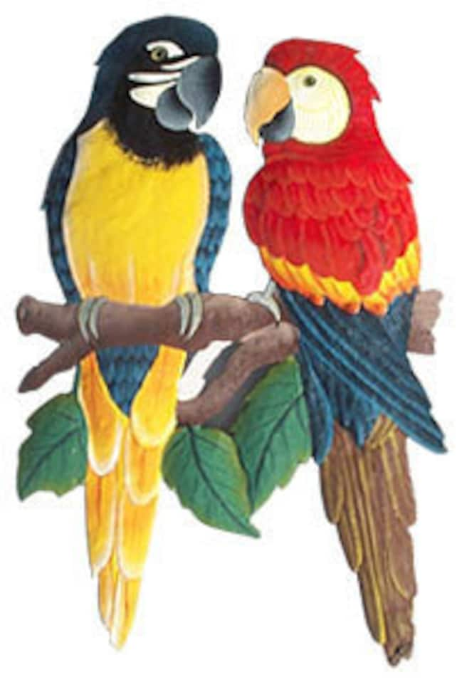 Tropical Wall Art Parrot Art Tropical Metal Art Parrot Wall   Etsy