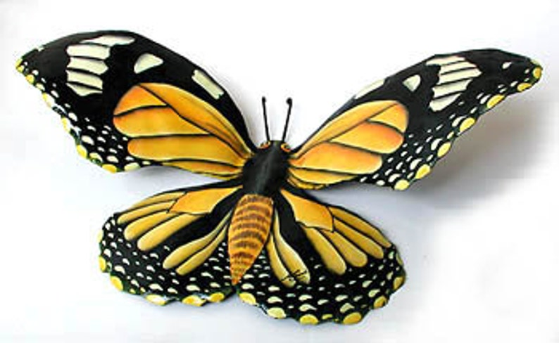 Outdoor Metal Wall Art Painted Metal Monarch Butterfly Metal Art Garden Decor Butterfly Art Metal Wall Hanging Bu 517 M