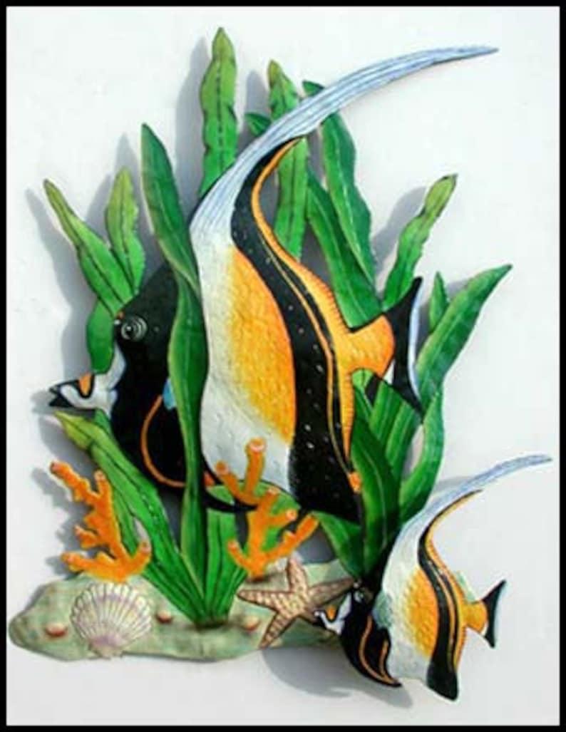 Tropical Fish, Metal Wall Art, Moorish Idol, Outdoor Wall Art, Metal Wall  Art, Garden Decor, Metal Wall Hanging, Tropical Decor - K-175-20
