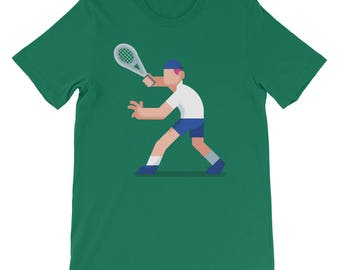 Tennis Short-Sleeve Unisex T-Shirt. shirt, tshirt, tee, gift, tennis, player, court, racket, play, sport, competition, athlete, game,