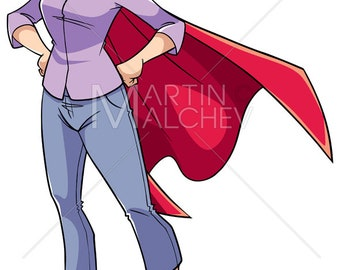 Super grandma cape | Etsy