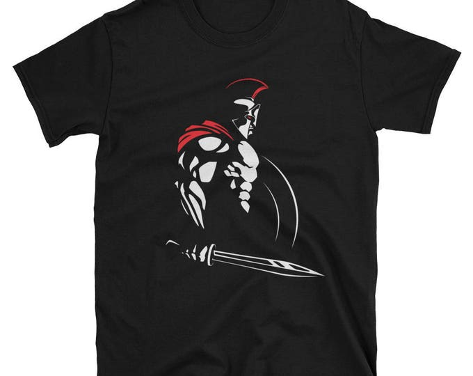 Spartan Short-Sleeve Unisex T-Shirt. shirt, tshirt, tee, gift,spartan, greek, roman, mars, ares, god, man, athlete, 300, hero, warrior,