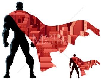 31873758c97 Superhero Abstract - Vector Illustration. super
