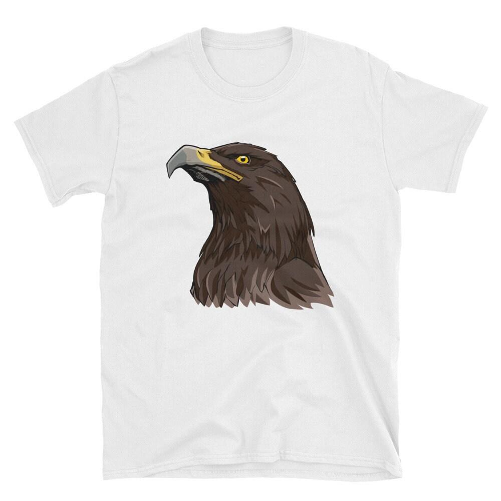 Golden Eagle Short Sleeve Unisex T Shirt Head Bird Golden Steppe