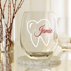 dental hygiene gifts,Because Calculus Dental Hygiene Stemless Wine Glass Hygienist RDH Gift for Hygienist Scalers