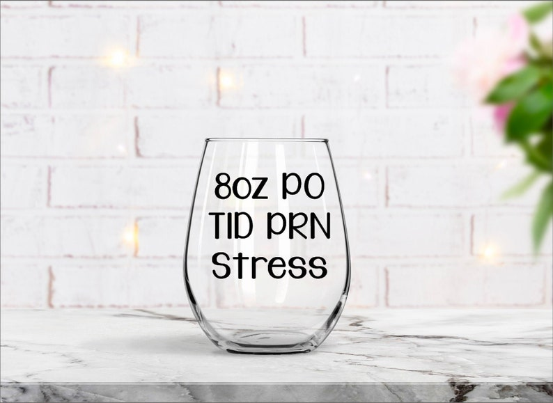 Nurse Wine Glass Gift for Doctor Pharmacist Gift Gifts for image 0