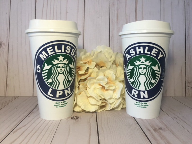 Personalized Starbucks Cup Personalized Gift Coffee Lovers Holiday Gift Gift Idea Christmas Gift Nurse Starbucks