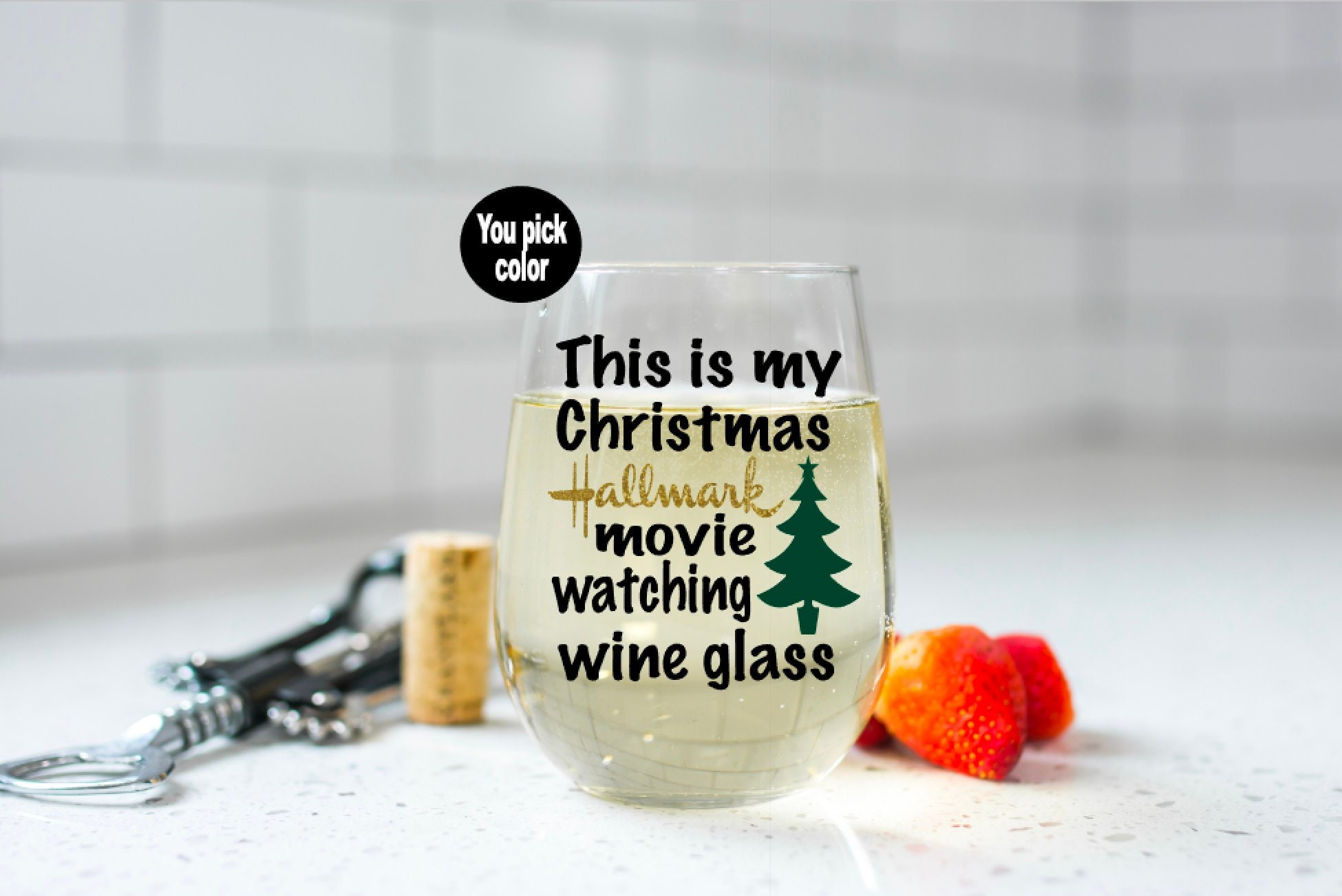 Christmas Wine Glass This my Hallmark movies wine glass | Etsy