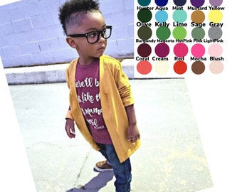 U PICK Color Unisex Cardigan, Toddler cardigan, baby basic cardigan, baby boy cardigan, baby girl cardigan