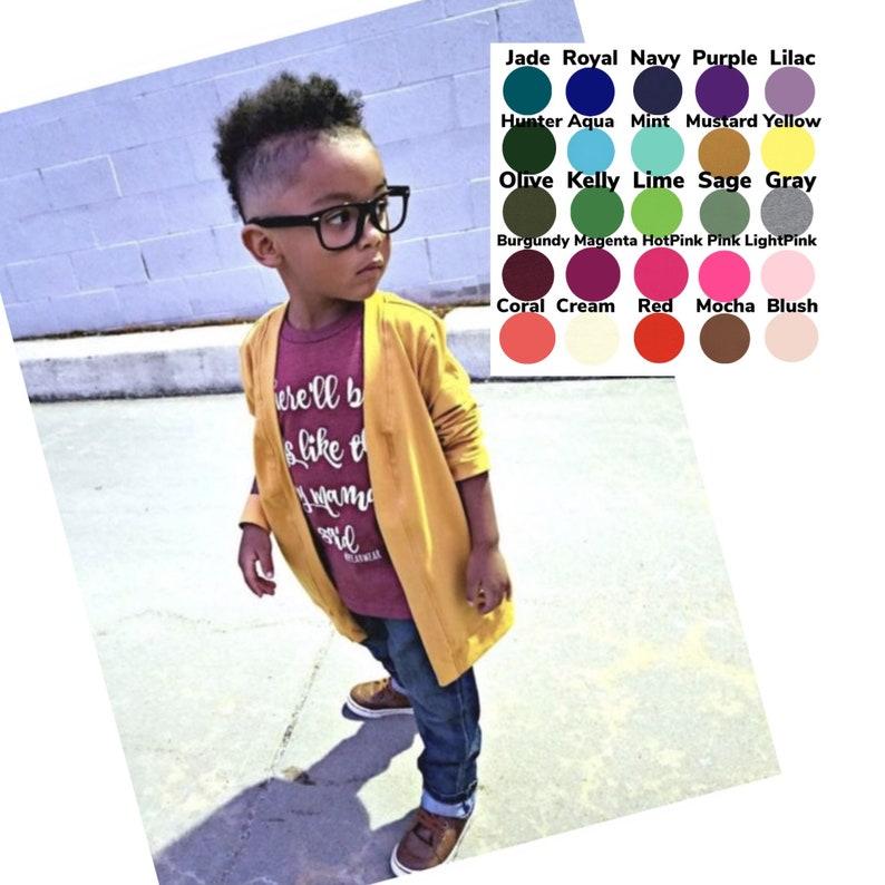 U PICK Color Unisex Cardigan Toddler cardigan baby basic image 0