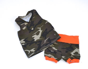 Camo Racer Back Tank or Shorties set or sold seperate
