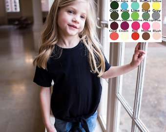 U Pick Color Knotted Short Sleeve Top