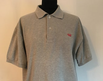 1538cf39 Vintage Levis Polo Shirt Mens Gray Polo Levis Shirt Mens Levis Medium Levis Mens  Medium Polo Shirt