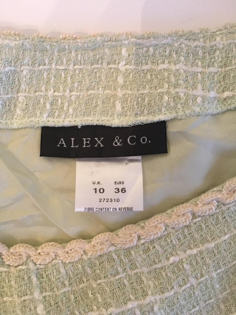 Skirt Vintage ALEX/&CO Light Blue Summer Skirt SMALL 36 Excellent Condition