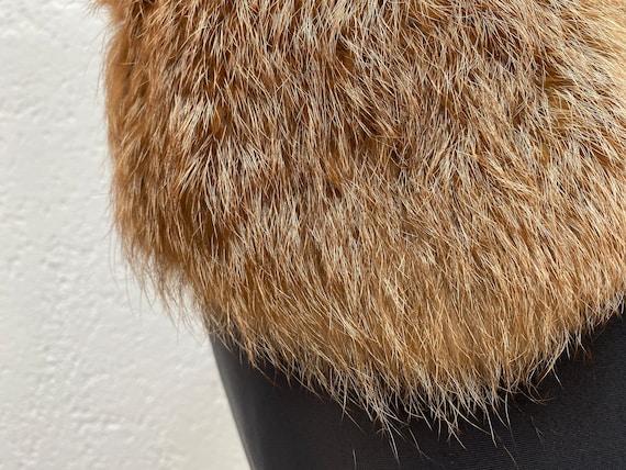 Vintage Racoon fur collar Natural fur collar Wint… - image 3