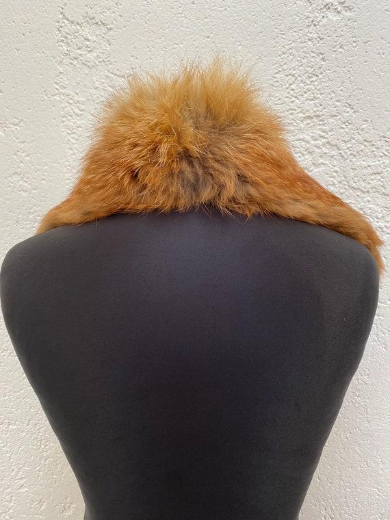 Vintage Racoon fur collar Natural fur collar Wint… - image 6