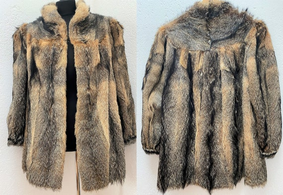 Amazing Raccoon Fur coat Medium Fur jacket Medium