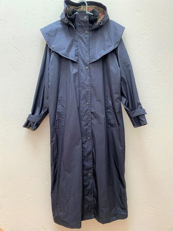 Jack Murphy Rain Coat UK 10 Medium Size Dark blue… - image 7