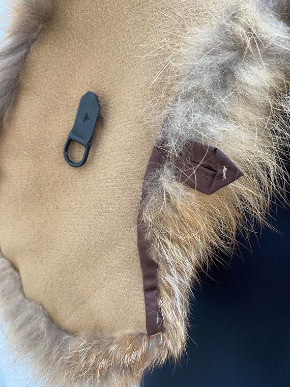 Vintage Racoon fur collar Natural fur collar Wint… - image 9