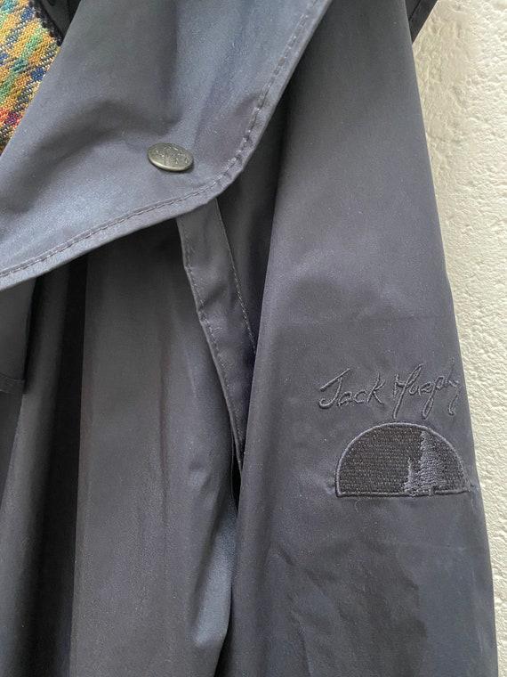Jack Murphy Rain Coat UK 10 Medium Size Dark blue… - image 5