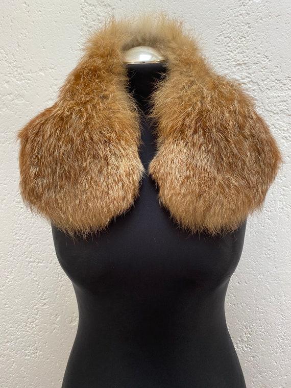 Vintage Racoon fur collar Natural fur collar Wint… - image 5