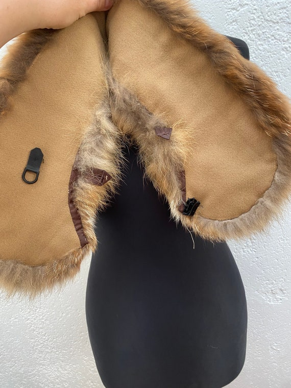 Vintage Racoon fur collar Natural fur collar Wint… - image 8