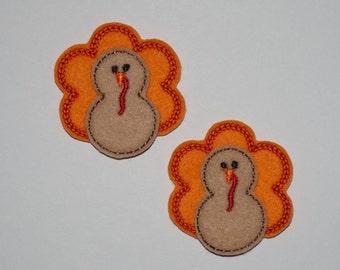 Turkey Felties, Fall Felties, Thanksgiving Feltie