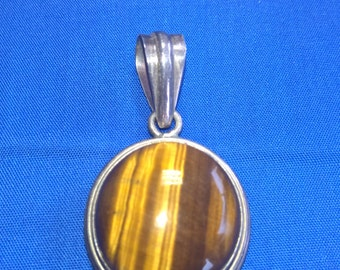 Tiger Eye Sterling Pendant