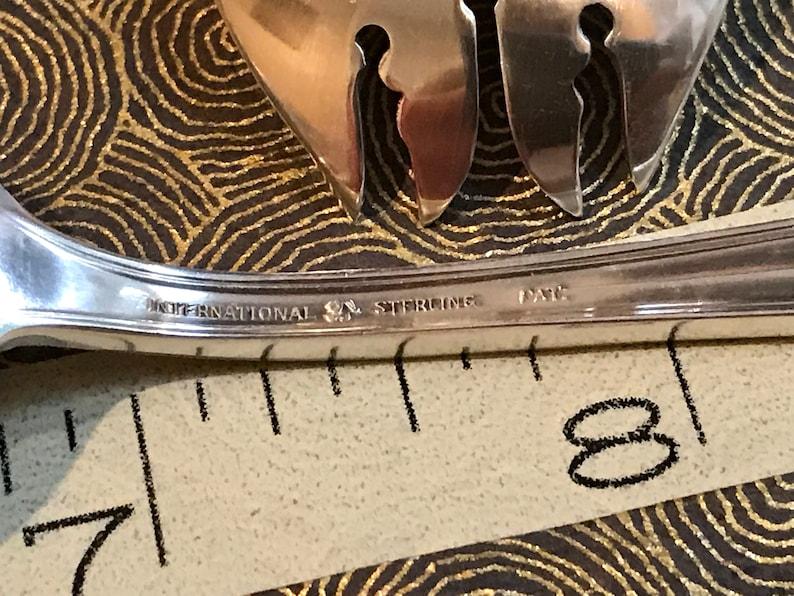 Wedgwood by International Sterling Silver BBQ Serving Fork 7 58 Custom Made