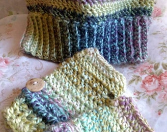 Surely Inspired Slouchy Hat and Fingerless Glove Set