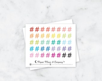 Hashtag Planner Stickers