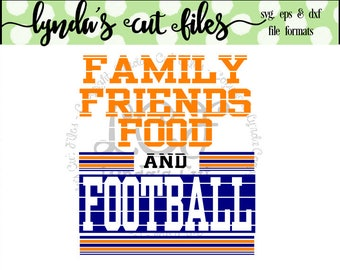Family Friends Food Football//SVG/EPS//DXF file