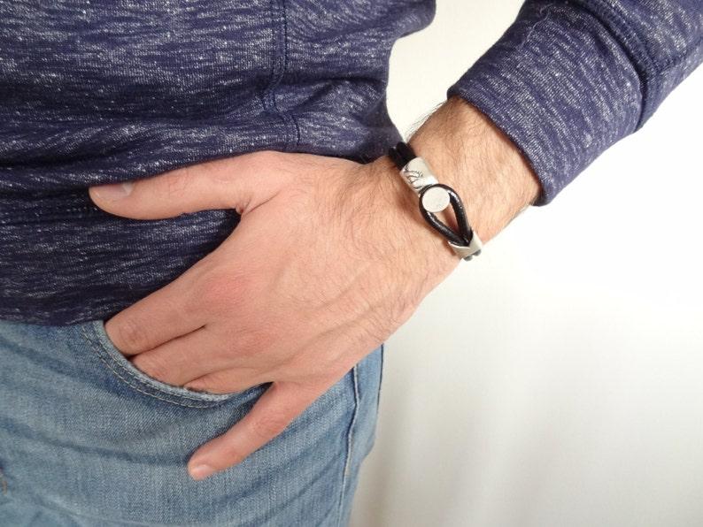 Gift for Women Gift for Men Cuff Bracelet Black Bracelet Black Leather Bracelet Leather Jewelry Unisex Jewelry