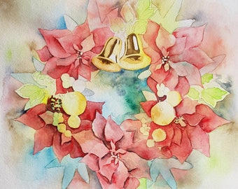 Template Christmas Watercolour Along