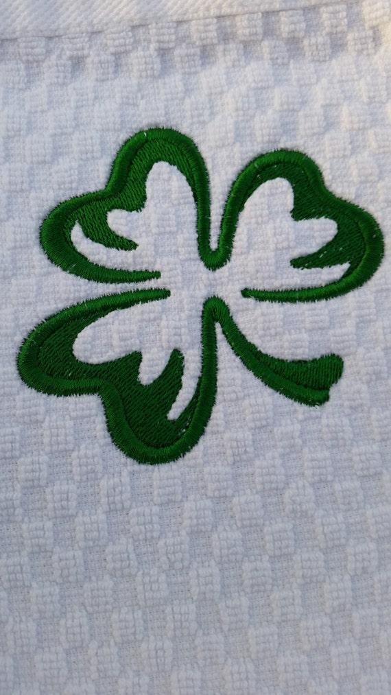 Personalised Towels Shamrock Embroidered Towels Shamrock 1