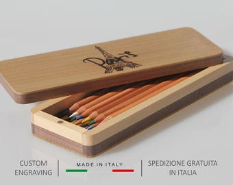 Pen holder, Pencil holder, Wooden pencil box, Pen box, Pencil case, Desk organiser, Gifts for him, Gifts for her, Mother's day gift