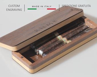 Cigar case personalized,Wooden cigars holder,Custom wood cigar box,Wooden cigar case,Anniversary gift,Personalized gift,Gift for him