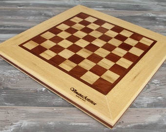 Chess board - Chessboard - Wooden chessboard - Checkers case - Playing case - Game - Chess - Checkers - Dices- Housewarming gift