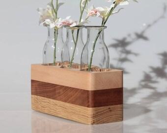 Wooden vase, Wooden planter, Flower vase, Home decor, Flower pot, Housewarming, Centerpiece, Gift for mom, Gift for wife, Housewarming gift