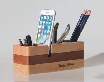 Stationary Desk organizer,Office organizer,Desk accessories,Gift for men,Gift for women,Desk organiser,Anniversary gift,Personalized gift