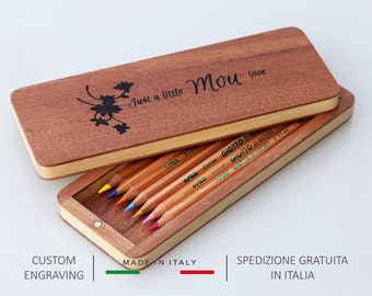 Pencil case, Pen case, Pen box, Pencil box, Wood pencil case, Wooden pencil case, Pencil holder, Pen holder, Gift for him, Gift for her