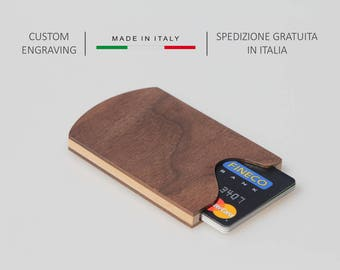 Wooden wallet,Wooden card holder,Wood wallet,Business card holder,Credit card wallet,Men's accessories,Credit card case,Personalized gift