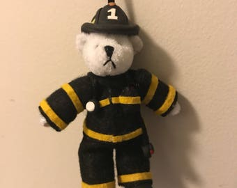 Firefighter Bear Ornament