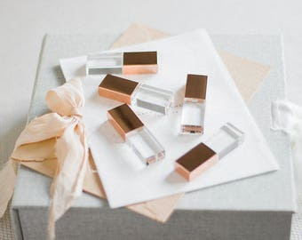 10x 4GB Rose Gold Crystal USB drive 2.0 for Luxury Fine Art Wedding and Portrait Photographers